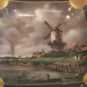 Gerold Porzellan West Germany Windmill Ashtray
